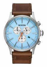 Nixon Original Sentry Chrono A405-2547 Taupe Leather 42mm Watch