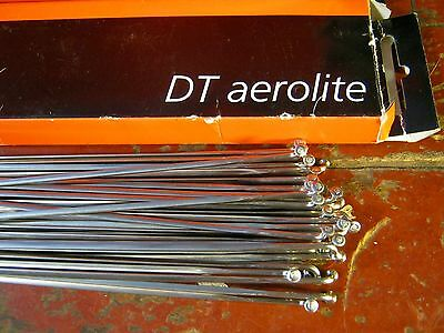 "DT SWISS AEROLITE Spokes Black /""Bladed/"" *Any Quantity**Custom Cut Length* NEW"