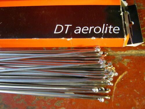 "DT SWISS AEROLITE Spokes Silver /""Bladed/"" *Any Quantity**Custom Cut Length* NEW"