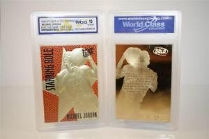 MICHAEL-JORDAN-1996-97-Fleer-Starring-Role-FEEL-GAME-23KT-Gold-Card-GEM-MINT-10
