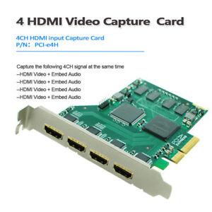 Details about Digital Pro Quad HDMI HD video mini recorder capture I/O card  broadcast OBS/vMix