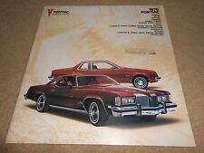 1976 PONTIAC HUGE PRESTIGE BROCHURE FIREBIRD LEMANS BONNEVILLE GRAND PRIX More!