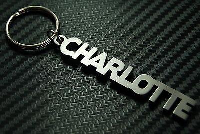 CHARLOTTE Personalised Name Keyring Keychain Key Bespoke Stainless Steel Gift