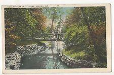 Cool Retreat in City Park, KOKOMO IN Vintage 1933 Indiana Postcard