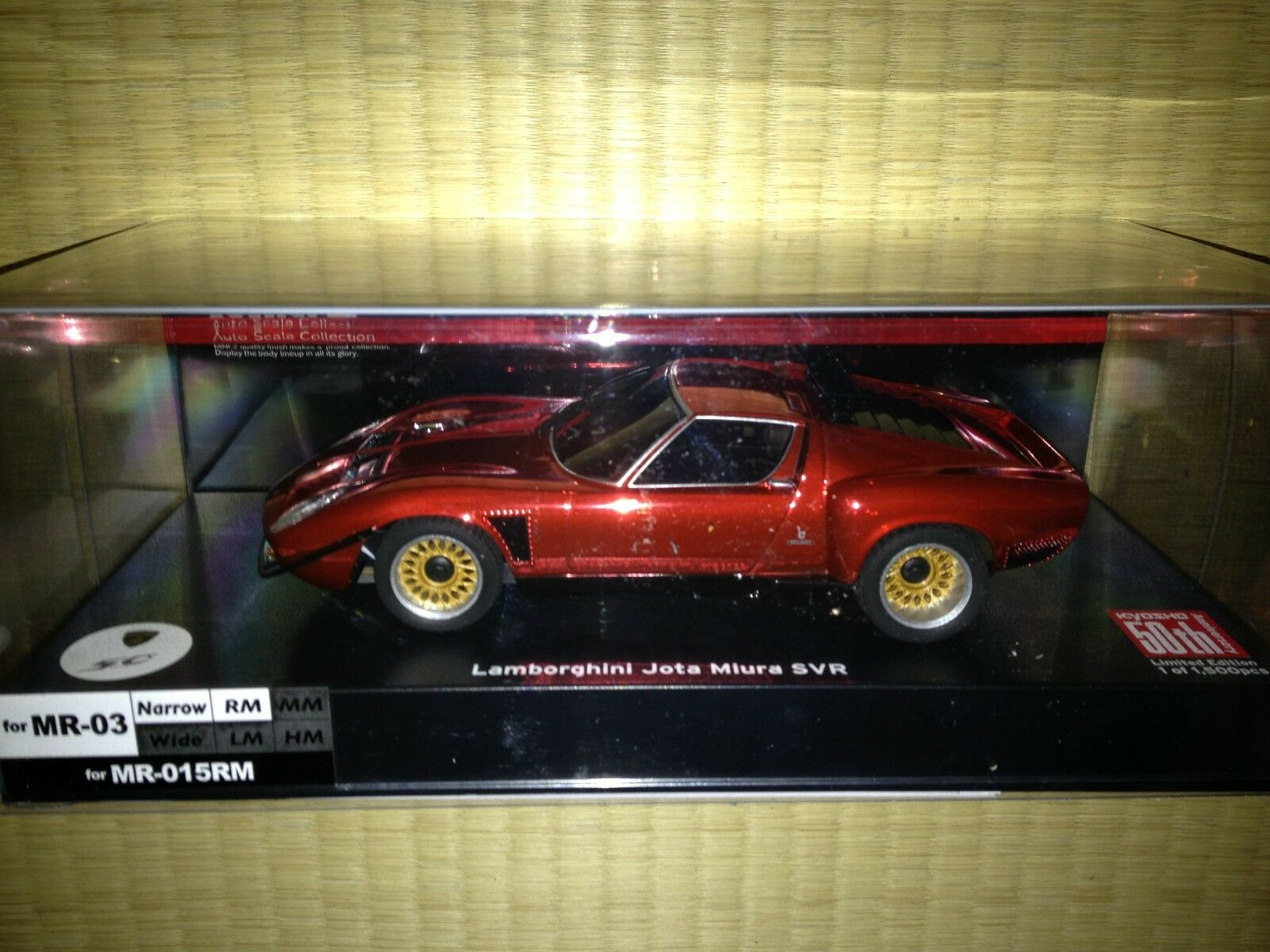 KYOSHO Mini Z Lamborghini Miura Jota SVR 50th Anniversary MZP36CR Limited 1500