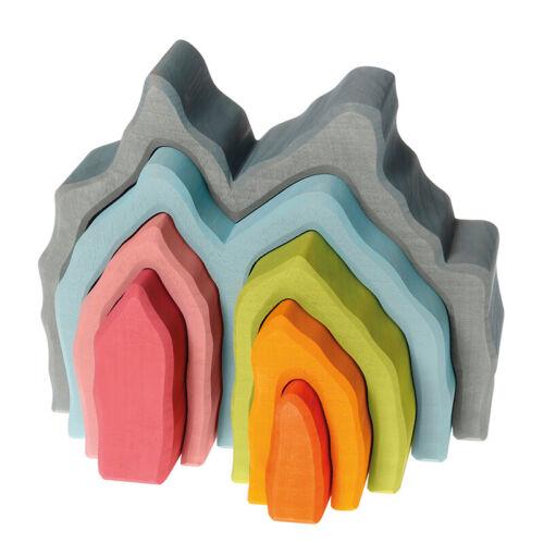 Stapelspiele Grimm's Spiel und Holzdesign 10911 Blaue Grotte aus der Regenbogenwelt NEU