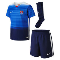 Nike United States Usa Season 2014-2015 Boys / Girls Home Soccer Kit Brand