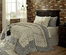 Elysee Queen Quilt by VHC Brands - Shades of Creme, Black, Gray & Red
