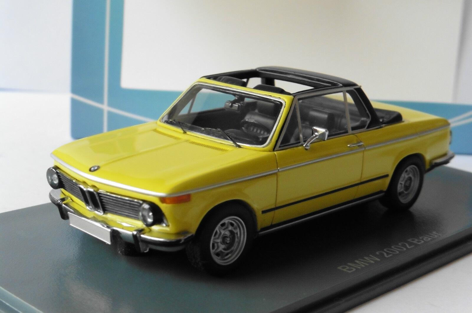 BMW 2002 E10 BAUR ROADSTER YELLOW NEO 43284 1 43 CABRIOLET GELB JAUNE LHD
