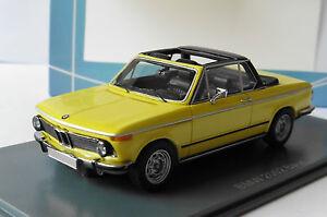 BMW-2002-E10-BAUR-ROADSTER-YELLOW-NEO-43284-1-43-CABRIOLET-GELB-JAUNE-LHD