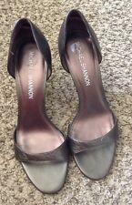 Michael Shannon open toe Leather  High heel size 7.5