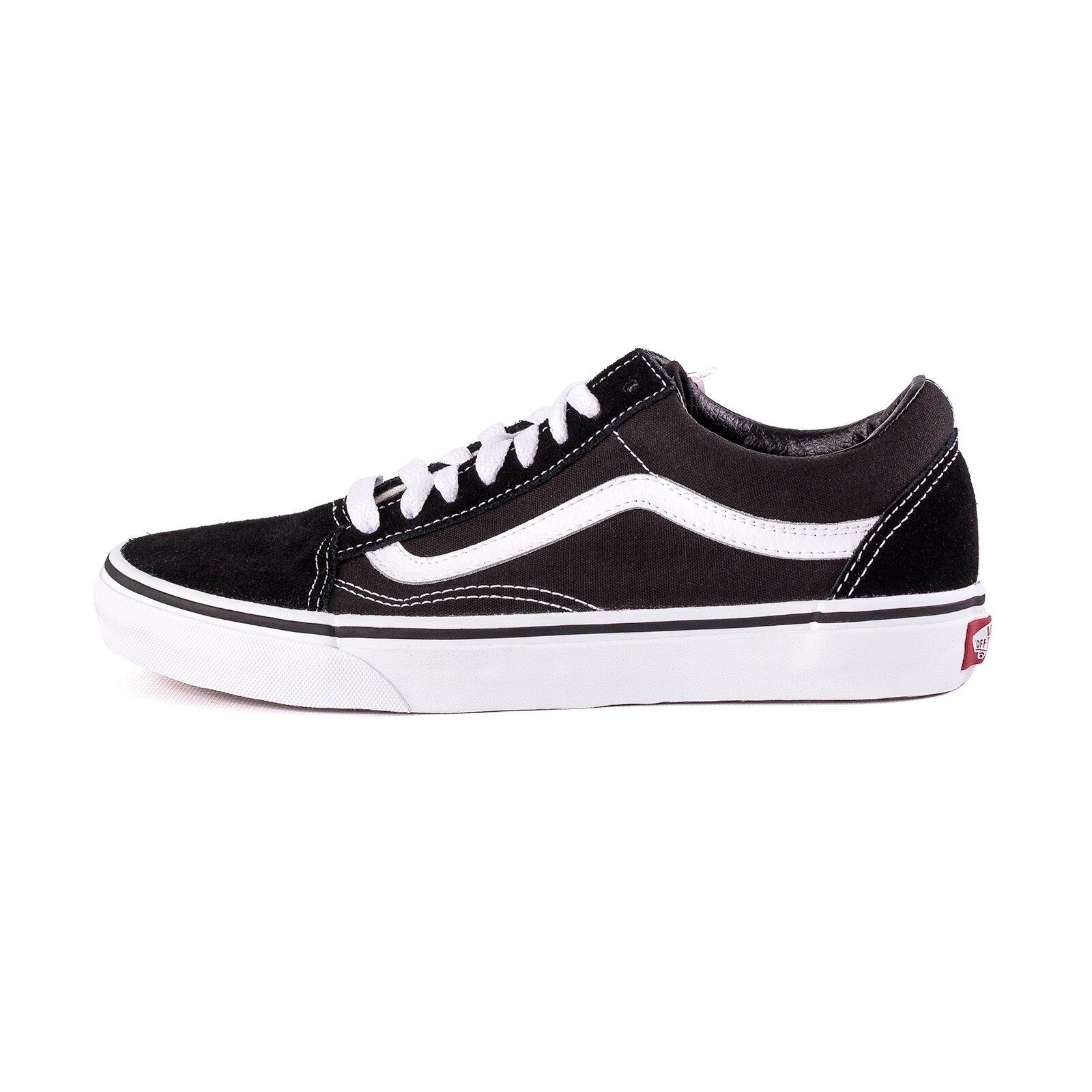 Vans Old Skool Schuhe unisex Sneaker, Farbe schwarz/weiß, 51072