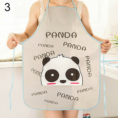 Women Cute Cartoon Waterproof Apron Kitchen Cooking Bib Aprons Intriguing