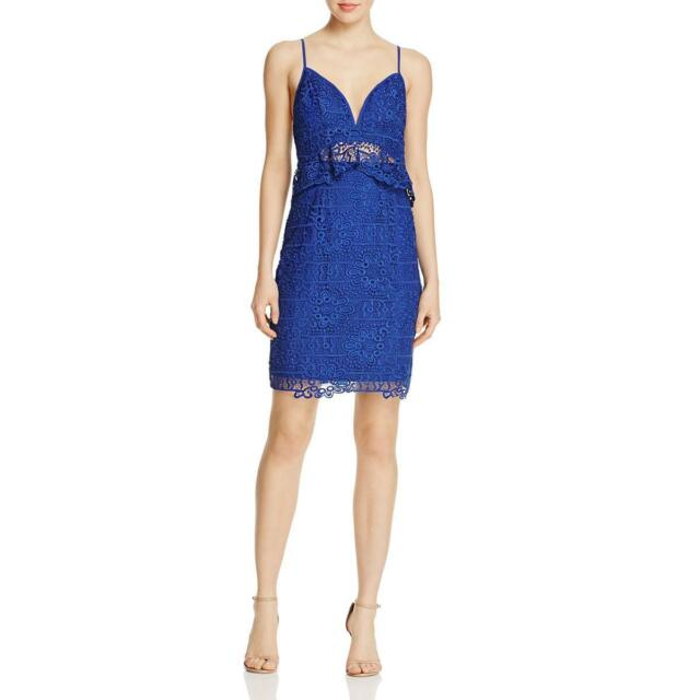 1a8fb6c7988 GUESS By29 Women s Solstice Lace Bodycon Dress in SODALITE Blue Sz ...