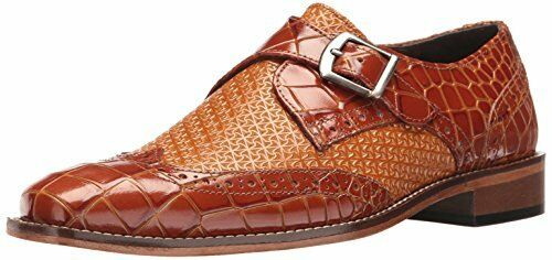 Stacy Adams Mens Giannino-Monje Correa punta del ala Slip-on Loafer-selecciona talla Color.