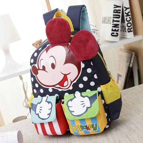 Children Kindergarten Boy Girl Mickey Mouse Baby Kids School Book Bags Backpacks