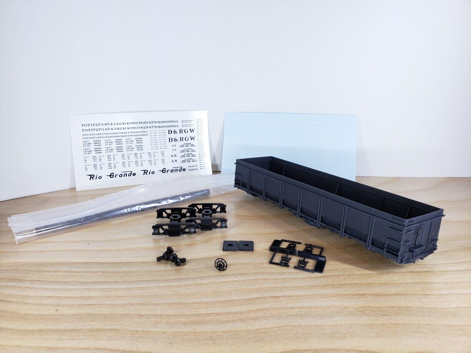 HO Scale 3D Print D&RGW GS Gondola 36ft (40k Series)  Late  Single Kit (Grabs)