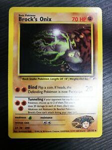 POKEMON-Brock-039-s-Onix-21-132-Gym-Heroes-ENGLISH