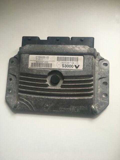 RENAULT MEGANE SCENIC 1.6 ENGINE ECU 8200321263 21584288-2B 8200387138 S3000