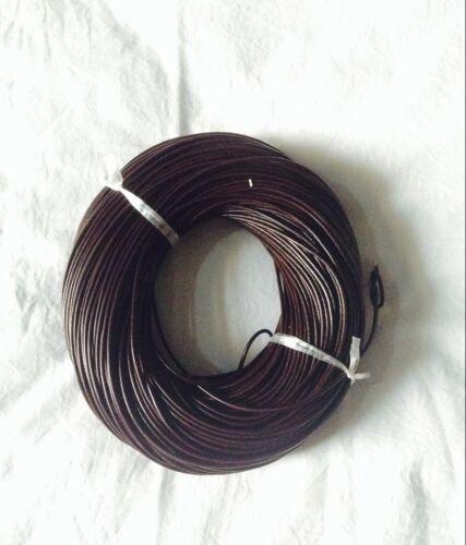 12mt di cordino filo in Pelle cuoio 2mm per bracciale,collana