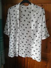 White Chiffon Kimono Jacket Coat Cardigan Blouse Summer Beach Cover up BRAND NEW