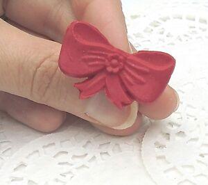 BAGUE-Noeud-Rouge-Fimo-Taille-ajustable-Objet-Neuf-amp-unique-Idee-Cadeau-Original