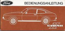 FORD   CAPRI  II 1974  Betriebsanleitung  ´74  Bedienungsanleitung  Bordbuch  BA