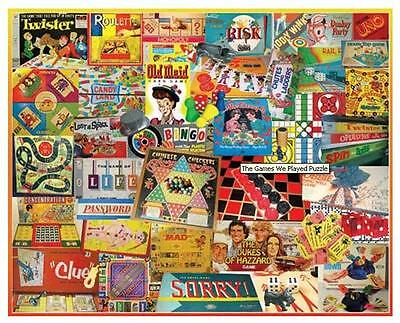 White Mountain Games We Played Classic Games Jigsaw Puzzle 1000 Pieces - 924S
