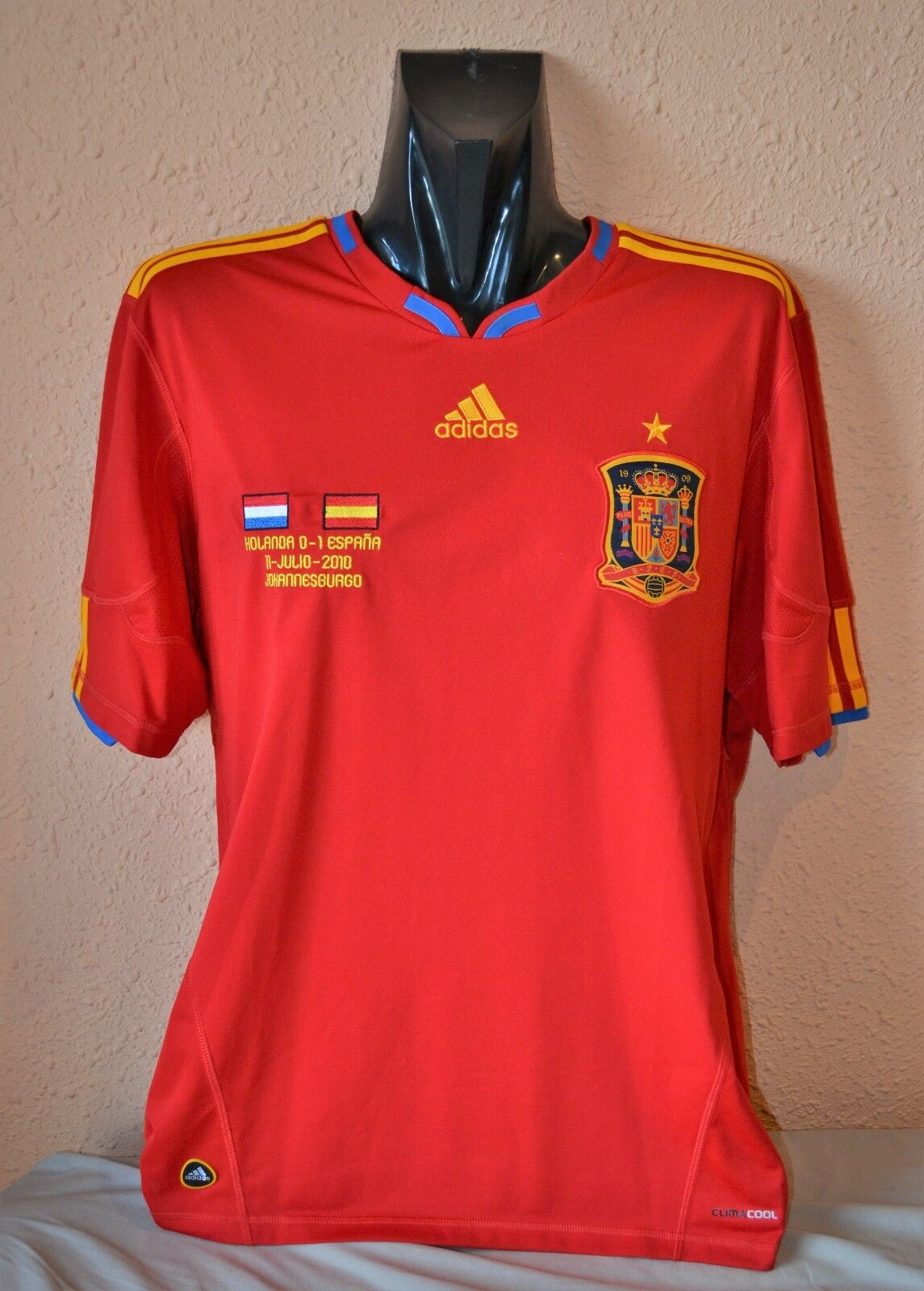 SPAIN SHIRT WORLD CUP 2010 NEW - CAMISETA ESPAÑA EDICIÓN LIMITADA ADIDAS NUEVA
