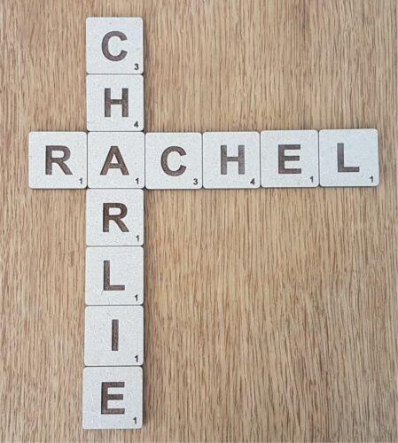 12 cm Solide 4 cm 9 cm Large En Bois Scrabble tiles 20 cm Wall Art