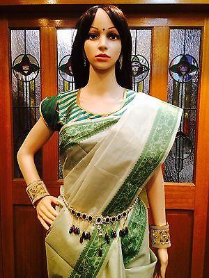 Hip Chain Bollywood  Belly Dance Waist Belt Indian Green Maroon Kamar Bandh A20