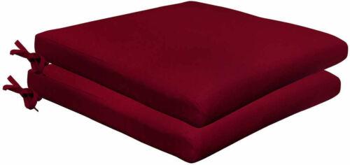 "Sunbrella 2 Pack Seat Pads Patio Chair Cushions Spectrum Ruby 18/"" x 19/"""