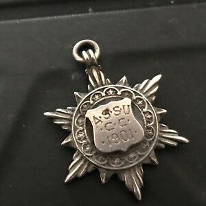 Silver Fob Sheild A.S.S.U CC 1901 Fattoni & Son 1901  ref013