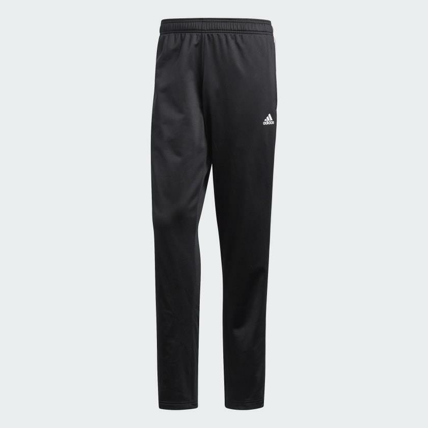 Mens Adidas Ess 3 Stripe Tricot Black/White Track Pants (SJ2) RRP