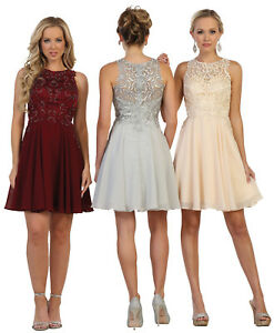 0c7e162ef7 Image is loading SHORT-BRIDESMAIDS-DRESSES-CUTE-GRADUATION-HOMECOMING-PROM- COCKTAIL-