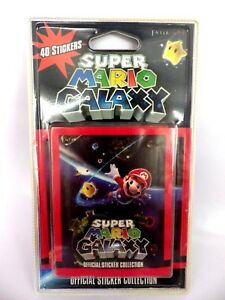 Blister-8-paquets-de-5-stickers-034-40-autocollants-034-Mario-GALAXY-2010-NINTENDO