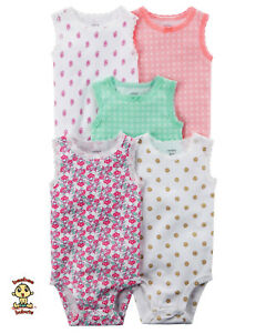 Carter-039-s-Bodysuits-5-Pack-Set-9-months-Authentic-and-Brand-New
