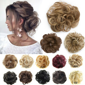 Curly-Messy-Bun-Hair-Piece-Bobble-Scrunchie-Thick-Extensions-Hairpiece-For-Human