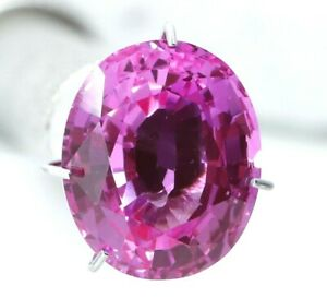 5.50 Ct Natural Pink Sapphire Oval Cut Certified Gemstone Best Quality AAA+
