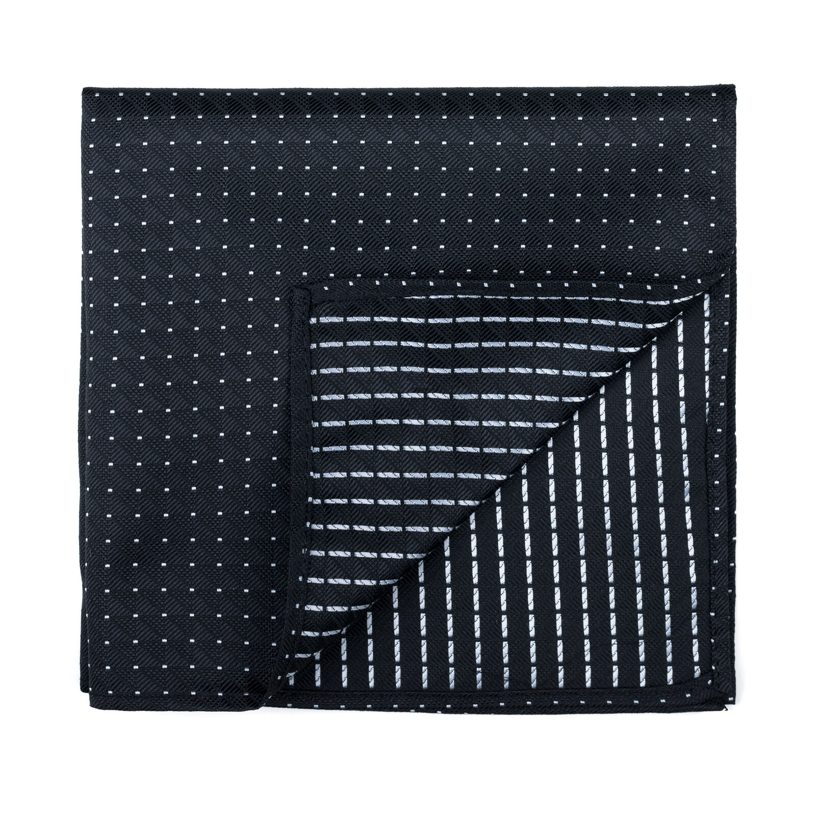 UK Black Pocket Square Fine Polka Dot Wedding Handkerchief Multiple Colours