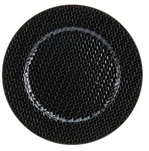 Set-of-4-Black-Woven-Patterned-Charger-Plates-Under-Plates-33cm