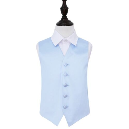 Plain Satin Waistcoat Boys-baby-blue-24
