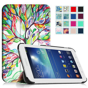 Slim Shell Stand Cover Case For Samsung Galaxy Tab E Lite 7 0 Tab 3 Lite 7 0 Ebay