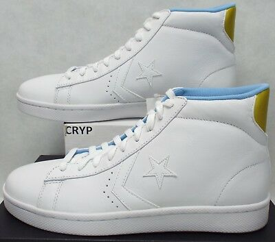 Converse All Star Pro Leather Mid Sneaker WHITE 136764C 9 MEN | eBay