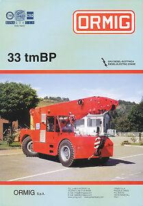 Ormig 33 Tmbp Autokran Mobilkran Prospekt 2002 Mobile Cranes Grue