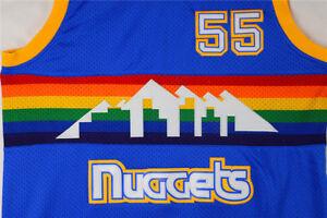 51c9d111a07 Men's Denver Nuggets Dikembe Mutombo #55 Blue Classics Throwback ...