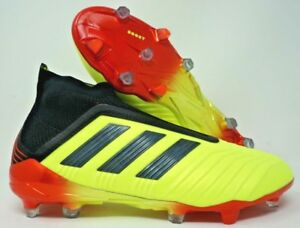 73c2edf9f Adidas Predator 18+ Firm Ground Mens Soccer Cleats Yellow Black Red ...