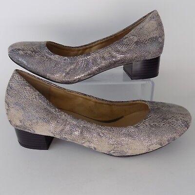Silver Snake Women Shoes Size 7 M EU 37