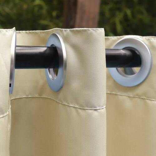 Privacy Outdoor Single Window Curtain Panel 50x120in with Grommets  Waterproof