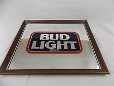 Budweiser Bud Light Beer Mirror #801-207 1988 VTG